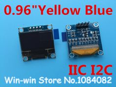 "1pcs 0.96""yellow blue 0.96 inch OLED module  New 128X64 OLED LCD LED Display Module For Arduino 0.96""  IIC  I2C Communicate"