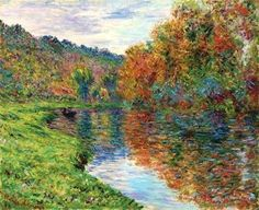 Claude Monet, Le bras de Jeufosse, automne  on ArtStack #claude-monet #art