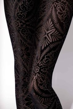 Burned Velvet tights.