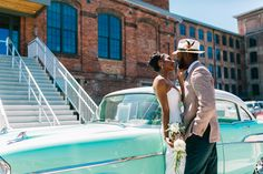 We combined mixed metals, a patinaed teal, ivory and mint green with modern and industrial details to create a uniquely elegant wedding design concept in this completely redone Cigar Factory in Charleston, SC. We called it Industrial Meets Mint!