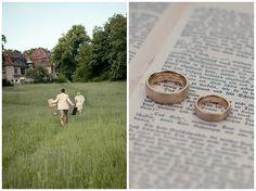 #Brautpaarfoto und Detailfoto der #Eheringe bei #Vintage -Hochzeit • Wedding rings at a Vintage Wedding
