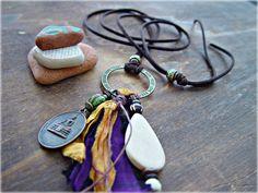 Buddha Necklace  Buddha Jewelry  Boho Hippie by HandcraftedYoga