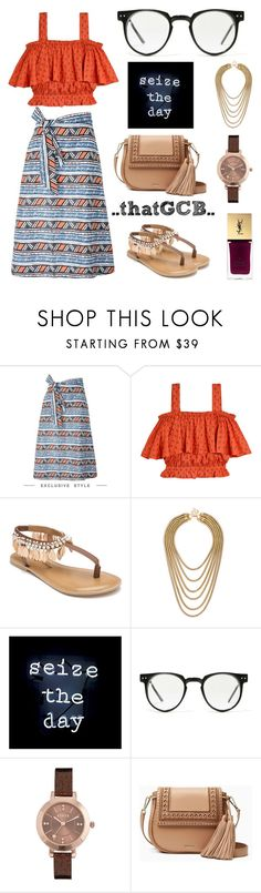 """""""..MIXED PRINTS - weekend wear.."""" by thatgcb ❤ liked on Polyvore featuring KISUA, Samantha Pleet, Penny Loves Kenny, Oliver Gal Artist Co., Spitfire, Lipsy, Kate Spade, Yves Saint Laurent, mixedprints and flatsandals"""