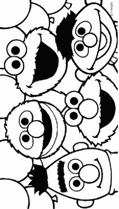 sesame street archives page 6 of 7 free printable coloring - Free Printable Coloring Pictures