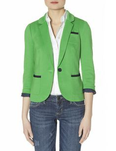 Trimmed Ponte One Button Blazer from THELIMITED.com #TheLimited #LTDWellSuited