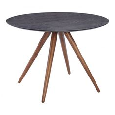 Helena Dining Table Walnut & Black, ,
