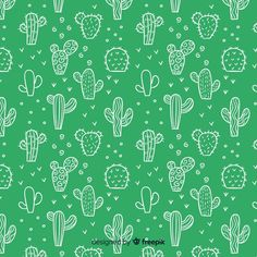 Discover thousands of copyright-free vectors. Graphic resources for personal and commercial use. Thousands of new files uploaded daily. Cute Patterns Wallpaper, Background Patterns, Illustration Cactus, Phone Wallpaper Boho, Cactus Backgrounds, Pink And White Background, Cactus Vector, Cactus Types, Banners