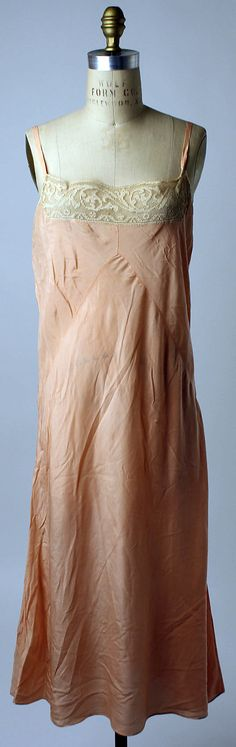 Slip Date: 1925–29 Culture: probably French Medium: silk Dimensions: Length: 40 in. (101.6 cm) Credit Line: Gift of Eleanora Eaton Brooks, 1...