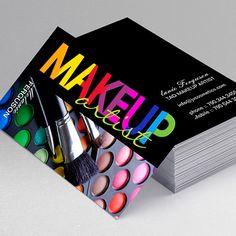 Glitter MUA Business Card Template | More Makeup ideas
