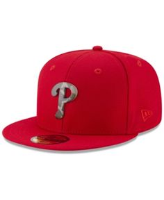 half off 4441c 86968 New Era Philadelphia Phillies Camo Capped 59FIFTY-fitted Cap - Red 7 1 4