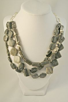 Black Canyon Marble Multi-strand Necklace