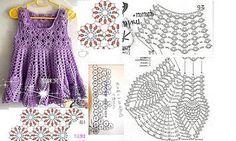 6 MODELOS DE VESTIDOS PARA NIÑAS CON PATRÓN GRAFICO | Patrones Crochet, Manualidades y Reciclado
