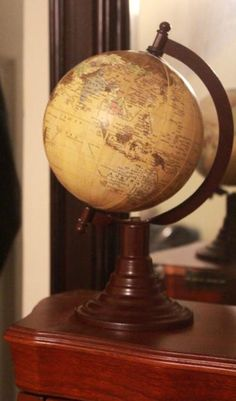 vintage style globe world for table decor