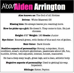 Character Profile Aiden from Kiss Me by Jillian Dodd, hot guys, books, The Keatyn Chronicles