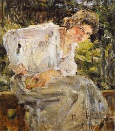 Nikolai FechinPortrait of a Young Woman1916 Oil on canvas on cardboard, 52 x 48 cmState Russian Museum, Saint Petersburg