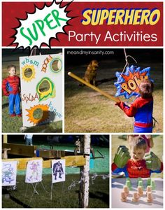 Superhero Birthday for Kids - Game and activity ideas.