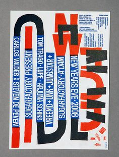 Job Wouters (Letman), Lettering for MRKMLN, 2008, risograph print