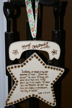 Items similar to The Christmas Story- Wooden Star Plaque on Etsy Wood Yard Art, Wooden Stars, A Christmas Story, 9 And 10, Holiday Ideas, Birthday Candles, Wood Signs, Merry, Joy