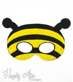 Bee Mask ITH Embroidery Design
