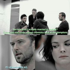 [1x18] RICH: You two aren't actually married in real life?  ALLISON: Here.  RICH: 'Cause you had some serious chemistry back at the Hamptons. KURT: It's all part of the act.  #jeller #blindspot #blind #spot #janedoe #jane #doe #jaimiealexander #taylorshaw #kurtweller #kurt #weller #sullivanstapleton #patterson #ashleyjohnson #edgarreed #robbrown #tashazapata #audreyesparza #bethanymayfair #mariannejeanbaptiste #drborden #ukweliroach #lukemitchell #roman #jaimiesquad #richdotcom #ennisesmer…
