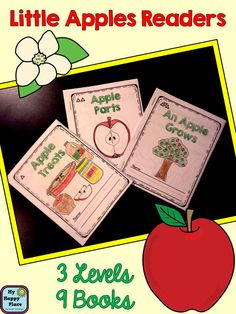Differentiated, non-fiction readers about apples. 3 topics, 3 levels, 9 books! Great for guided reading or home practice! $