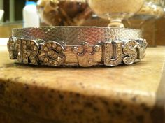 Mrs. US Universal 2013's beautiful bracelet!    Get your own custom bracelet at https://facebook.com/myblingplace