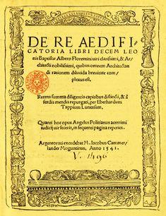 DE RE AEDIFICATORIA. 1450. LEON BATTISTA ALBERTI. De influencia aristotélica, aporta una base científica al arte. También habló de decorum, el tratamiento del artista para adecuar los objetos y temas artísticos a un sentido mesurado, perfeccionista. Fue Alberti quien agrupó a la arquitectura, la escultura y la pintura en el grupo de las artes liberales, ya que hasta entonces eran consideradas como artesanía; con ello, elevó al artista a la categoría de creador intelectual.