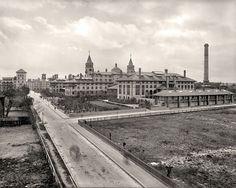 """1890 Photo, St. Augustine, Florida, Ponce de Leon, antique View, 20""""x16"""" CANVAS"""