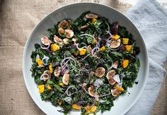 fig + butternut squash + marinated kale salad + balsamic reduction / what's cooking good looking