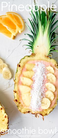 Learn how to make a pineapple smoothie bowl and your guests will think they are at a fancy resort!! Such a wonderful and healthy way to get a yummy breakfast! Best Smoothie Recipes, Good Smoothies, Best Dessert Recipes, Fun Desserts, Delicious Recipes, Whole Food Recipes, Snack Recipes, Snacks, Healthy Breakfast Options