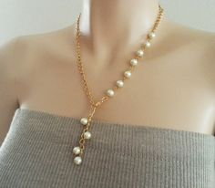 Bridesmaids Gift Jewelry Pearl Necklace by PearlJewelryNecklace, $28.90