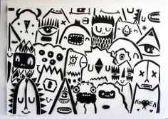 Stencil Crowd - Black - Image 0