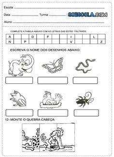 Atividades para imprimir 1º ano Ensino Fundamental