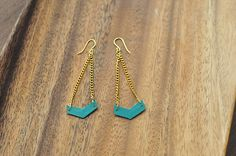 The Cheese Thief: Upcycle Credit Cards and Gift Cards to Make Chevron Earrings