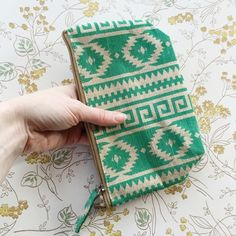 "SALE | jade aztec zippered pouch JUST REDUCED from $16. For those ladies that like to keep things nice & tidy, this is the perfect accessory. Throw it in your handbag, overnight bag or laptop bag to hold essentials. It is both versatile & chic.  - 9.5"" W x 5.25"" H - 2"" gusseted base - Fabric: 70% Jute, 30% Cotton - LDPE liner  • •  c u l t i v e r r e  • •  we'd love if you'd visit us at cultiverre.com, where we have thoughtfully curated a collection of beautiful wares for sentimental souls…"