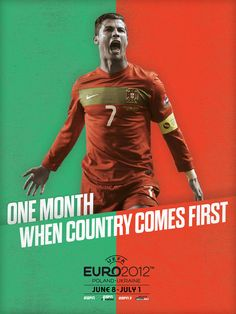 Euro 2012 posters. by NY artist Robert Broadbent for ESPN. quite nice. A Seleccao das Quinas.