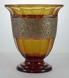 1920's Moser Art deco Paneled Vase. I really like this one.