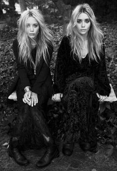 Mary Kate and Ashley Olsen - love the length and the texture