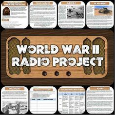 This cooperative learning project for World War II has students read about 7 key battles and create engaging radio news segments just like Americans would have heard in the 1940's!  Everything you need to complete this fun, creative lesson is included!