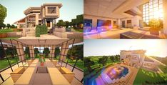 By John Lundsten Minecraft is a game where creativity never stops flowing. Today we will have a look at some of the most inspiring and beautiful modern house designs ever seen Modern Minecraft Houses, Minecraft House Plans, Minecraft Crafts, Minecraft Designs, Life Estate, Huge Mansions, Large Homes, Small Apartments, Modern House Design