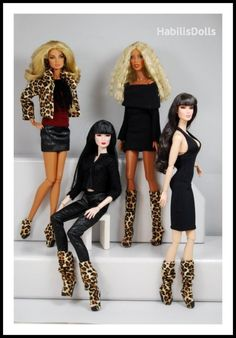 leopard boots&booties /3 sizes / 3 designs