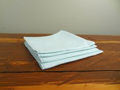 Set of Four Vintage Linen Napkins  Vintage Table by NewfoundFinds