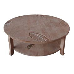 Key West Round Coffee Table W Inset Glass At Elementfinefurniture.com Hand  Made Solid Wood
