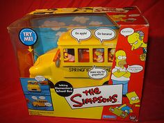The Simpsons Exclusive Playset Talking Elementary School Bus by Playmates//The Simpsons