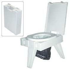 We all have to go, why not go in comfort? Camping toilet