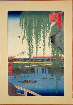 '100 famous views of Edo' (Meisho Edo Hyakkei), Ukiyo-e woodblock print series, by Utagawa Hiroshige (Ando), 1850s