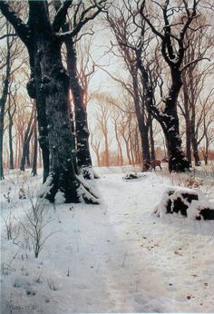 """PEDER MORK MONSTED    so peaceful... you can """"hear"""" and """"smell"""" the scene"""