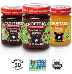 YUM!  We love Crofters delicious jams & spreads. In addition I love their company philosophy as Crofter's is particular about every single ingredient in its fruit products.