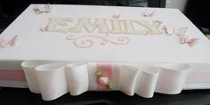 Box lid.  Box was completely hand made using scoring board and craft knife
