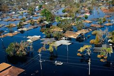 Quartier nord-ouest de La Nouvelle-Orléans, après le passage de l'ouragan Katrina, États-Unis. © Yann Arthus-Bertrand